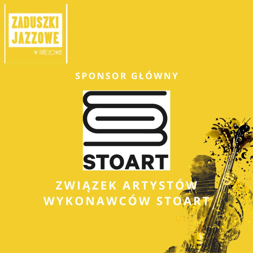 logo STOART z napisem Sponsor główny , Związek Artystów Wykonawców STOART